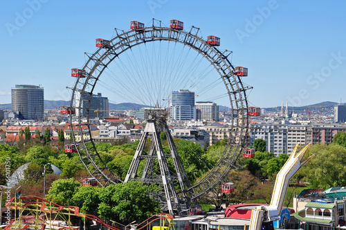 Photo sur Toile Vienne riesenrad in wien