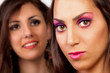 Two girls makeup