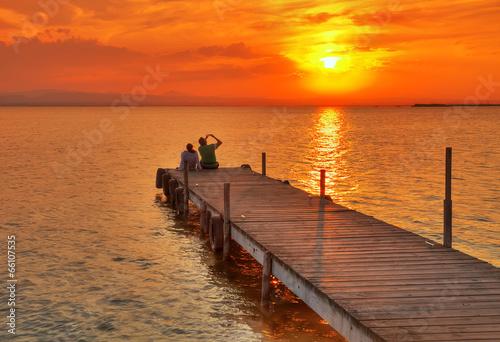 Foto auf AluDibond Pier fotografiando al sol