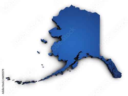 Photo Map Of Alaska 3d Shape