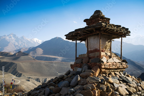 Wall Murals Nepal A mountainous view of Lower Mustang, Nepal