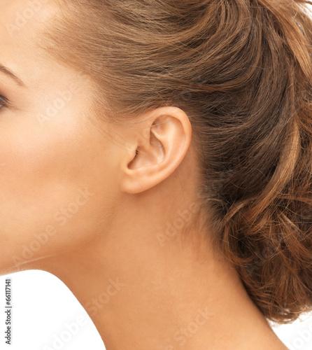 close up of woman ear Wall mural