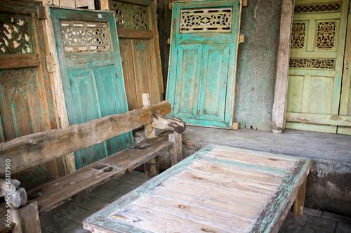 Foto op Aluminium Op straat Wood carving, Mas, Bali, Indonesia, Asia