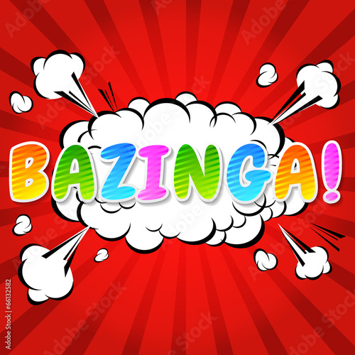Photo  Bazinga! Comic Speech Bubble, Cartoon