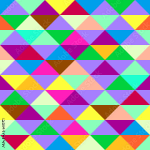 Keuken foto achterwand ZigZag Colorful geometric background with triangles. Vector EPS 10.