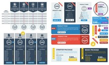 Pricing Tables Vector Set