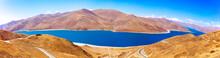 Lake Yamdrok Yumtco Panorama, Tibet