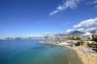 Benidorm beach with blue sky