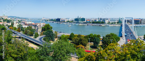 Printed kitchen splashbacks City on the water Panorama of Budapest