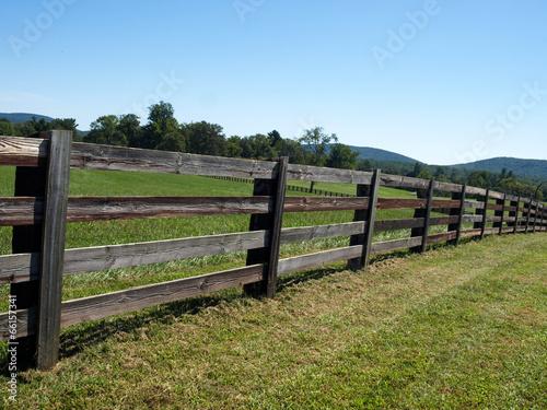 Fotografie, Obraz  Virginia Farm Fence-23