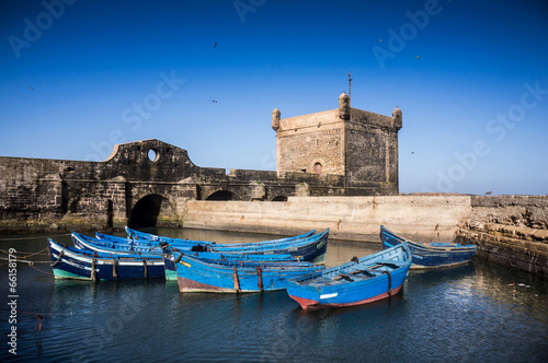 Recess Fitting Morocco Small boats in the harbour of Essaouira Morocco, Africa