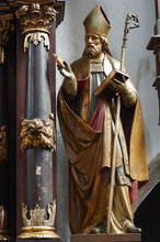 Saint Augustine Baroque Sculpture