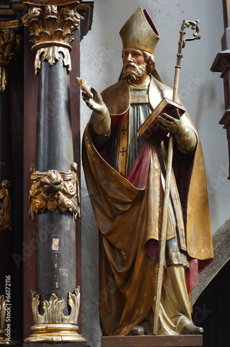 Photo Saint Augustine baroque sculpture