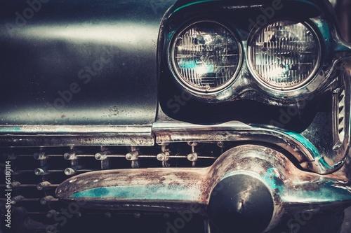 Fototapeta Ret rod style american car facia