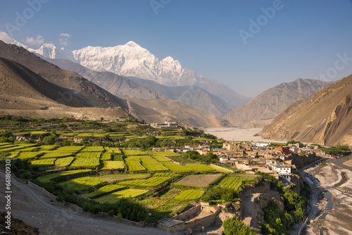 Wall Murals Nepal The village of Kagbeni, Upper Mustang, Nepal