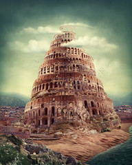 Fototapeta Abstrakcja Tower of Babel