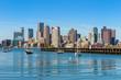 Boston skyline seen from Piers Park, Massachusetts