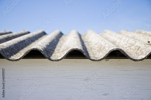 Photo Asbestos roof - danger of asbestos