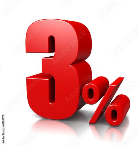Fotografie, Obraz  3 Percent