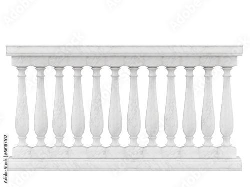 Fotografía Balustrade Pillars Isolated on White background