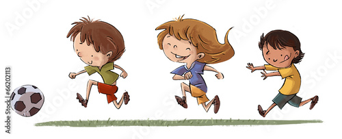 Ninos Jugando Futbol Buy This Stock Illustration And Explore