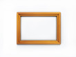 3D wooden picture frame isolated over white