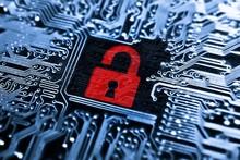 Hacked Symbol On Computer Circ...