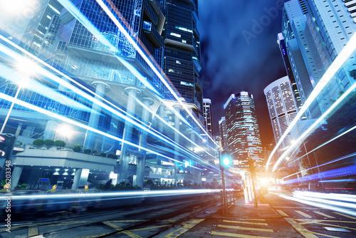 Plakát  modern city at night