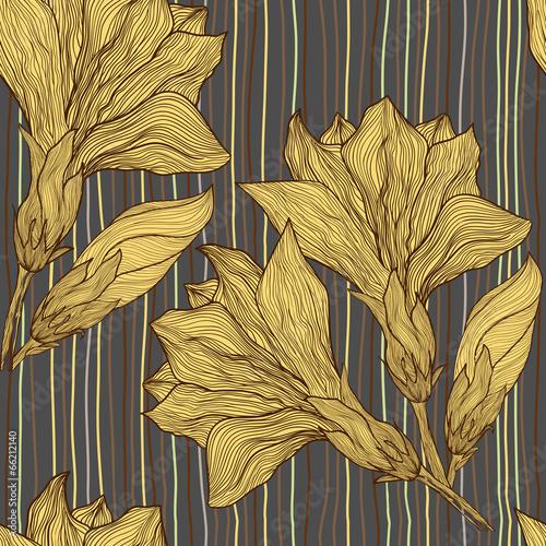 wektorowa-reka-rysujacy-bezszwowy-wzor-rocznika-kwiat