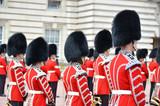 Fototapeta Londyn - LONDON, UK – JUNE 12, 2014: British Royal guards perform the C