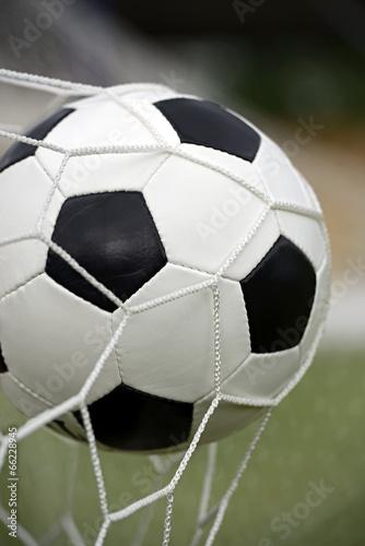 Fototapety, obrazy: Leather soccer ball