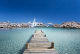 Fototapeta Most - Passerelle en Bois sur ma Mer