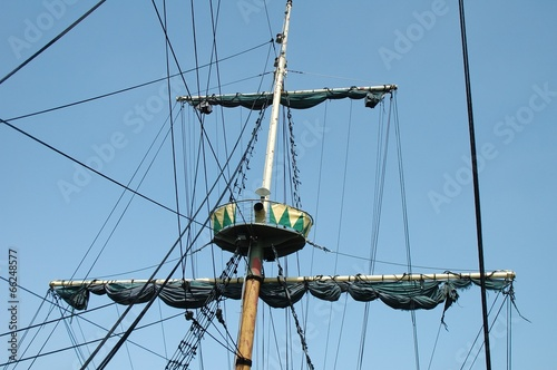 Fotografie, Obraz  Mast on sailing vessel