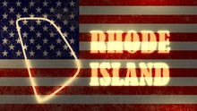 Neon Shining Outline Map Of  R...