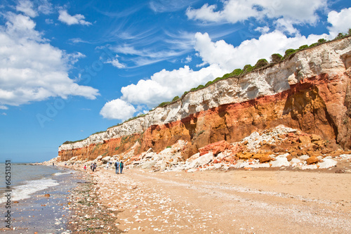 Leinwand Poster panorama of the layered cliffs at Hunstanton