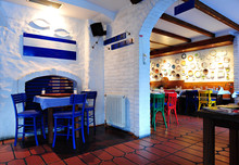 Greek Restaurant Interior