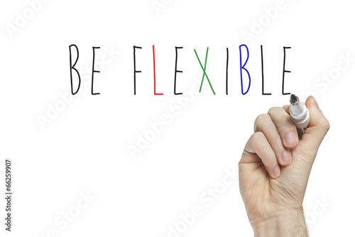 Valokuva  Hand writing be flexible