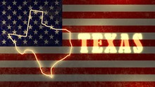 Shining Outline Map Of The Tex...