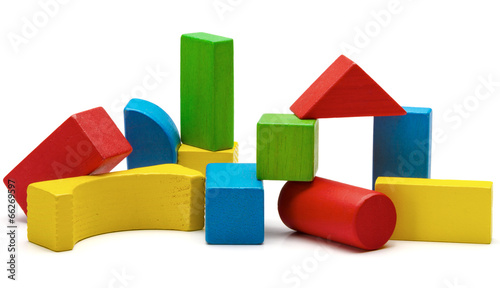 toy blocks, multicolor wooden bricks stack isolated