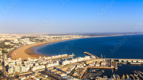 Poster Maroc Panorama of Agadir, Morocco