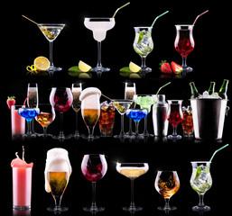 Fototapeta Do gastronomi different alcohol drinks set