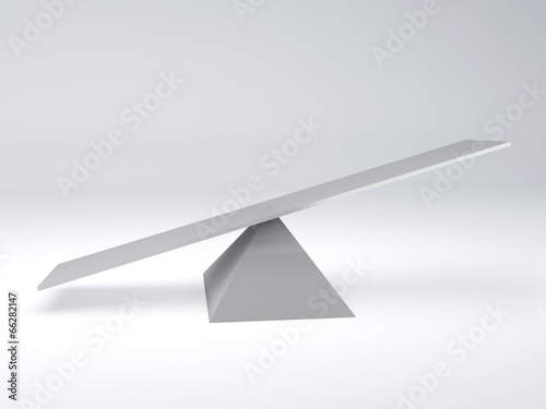 Fotografia, Obraz  seesaw. Balance concept