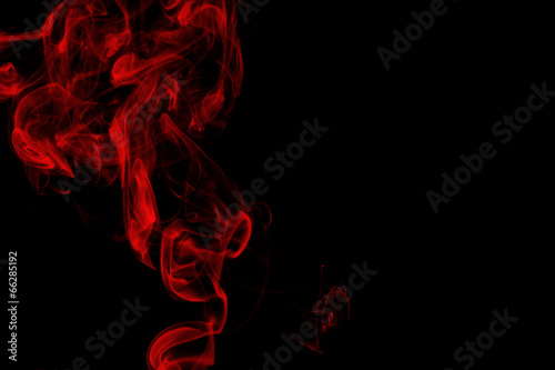 Foto op Plexiglas Rook Red smoke on black background