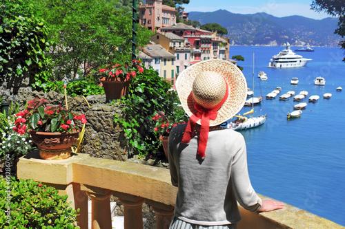 Urlaub in Portofino Fototapet