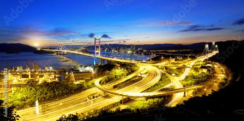 Foto op Aluminium Beijing tsing ma bridge sunset