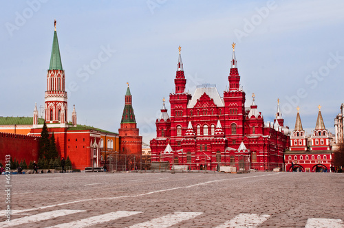 Foto op Aluminium Moskou Moscow Red Square and Historical Museum Day
