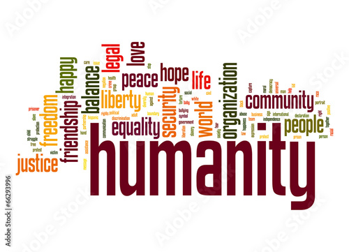 Fotografie, Obraz  Humanity word cloud