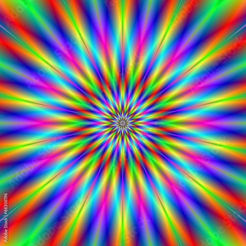 Spoed Foto op Canvas Psychedelic Exploding Star