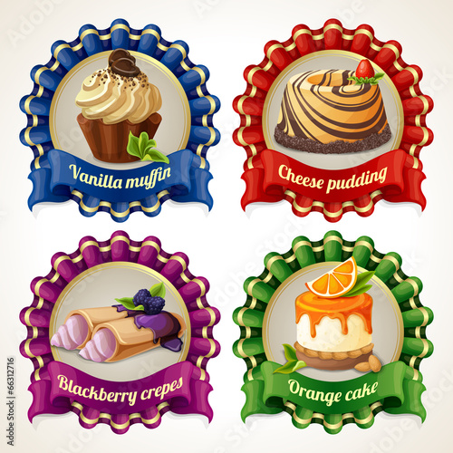 Sweets ribbon banners - 66312716