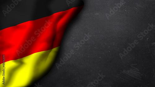 Valokuva Deutschlandfahne auf Schiefertafel